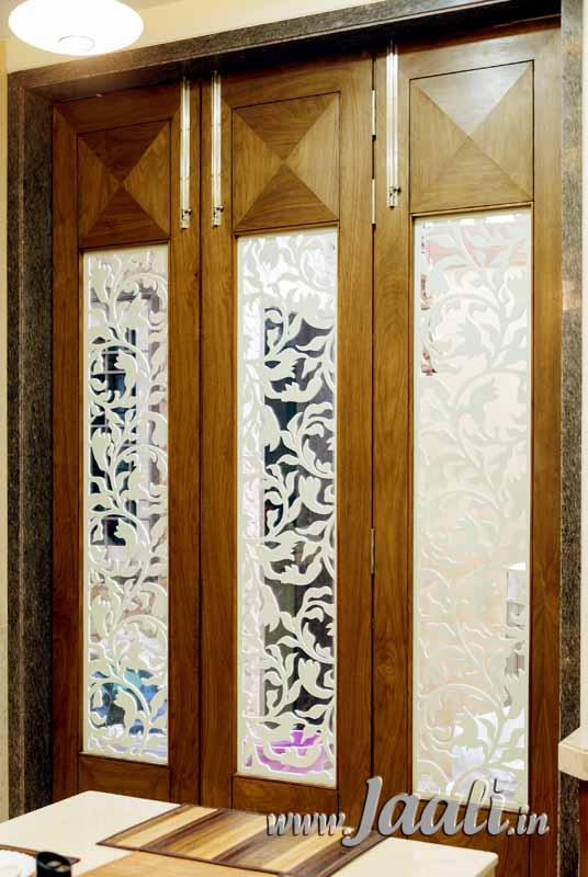Jaali concepts for Back painted glass designs for wardrobe